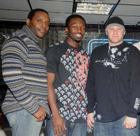 Chad Coleman, Jamie Hector and Domenick Lombardozzi at the DVD signing of