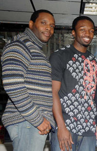 Chad Coleman and Jamie Hector at the DVD signing of