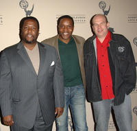 Wendell Pierce, Chad Coleman and executive producer David Simo at the Evening of