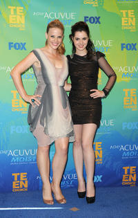 Katie Leclerc and Vanessa Marano at the 2011 Teen Choice Awards in California.
