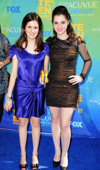 Vanessa Marano and Guest at the 2011 Teen Choice Awards in California.