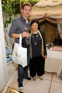 Bryce Johnson and Guest at the DPA pre-Emmy Gift Lounge.