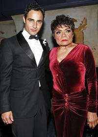 Designer Zac Posen and Eartha Kitt at the event hosted by M.A.C Cosmetics and Zac Posen.