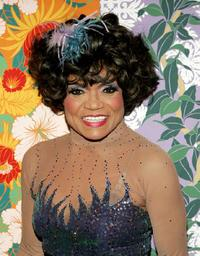 Eartha Kitt at the Hulaween, a celebration of Bette Midler's 60th birthday and the 10th Anniversary of the New York Restoration Project.