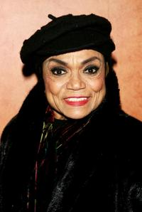 Eartha Kitt at the after party for the Holiday Celebration from Broadway to benefit the Actors Fund.