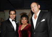 Eartha Kitt, Zac Posen and John Dempsey at an event hosted by M.A.C Cosmetics and Zac Posen.