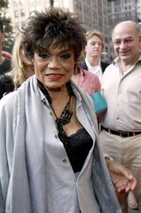 Eartha Kitt at the opening of Meow Mix Cafe.