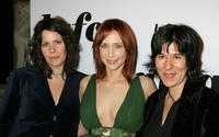 Anne Rosellini, Vera Farmiga and director Debra Granik at the 31st Annual Los Angeles Film Critics Association Awards.