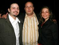 Matthew Bonifacio, Carmine Famiglietti and Sophia Antonini at the Tropfest cocktail reception during the 2007 Tribeca Film Festival.