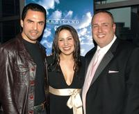 Manny Perez, Jennifer Pena and Carmine Famiglietti at the premiere of