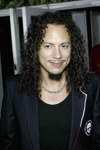 Kirk Hammett at the premiere of