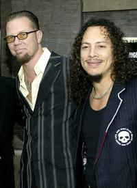 James Hetfield and Kirk Hammett at the premiere of