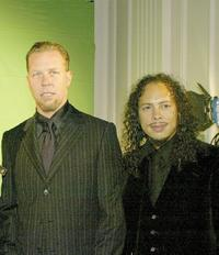 James Hetfield and Kirk Hammett at the 21st Annual ASCAP Pop Music Awards.
