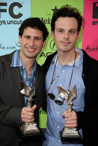 Seth Caplan and Scoot McNairy at the 24th Annual Film Independent's Spirit Awards celebration.