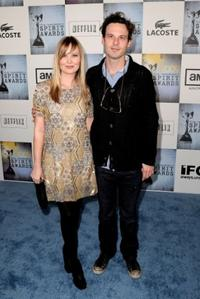 Sara Simmonds and Scoot McNairy at the 24th Annual Film Independent's Spirit Awards.