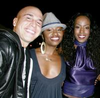 Shawn Desman, Tanisha Scott and Tre Armstrong at the premiere of