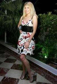 Meredith Ostrom at the Ocean Drive party during the Ibiza and Formentera International film Festival.