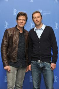 Thomas Vinterberg and Jakob Cedergren at the photocall of