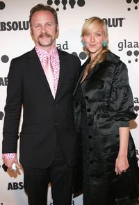 Morgan Spurlock and fiance Alex attend the 17th annual GLAAD Media Awards.