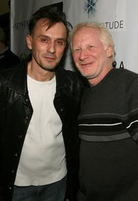 Robert Knepper and Don Most at the Fortitude Agency party.