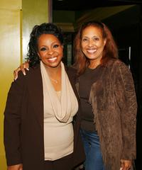 Gladys Knight and Telma Hopkins at the Gibson Amphitheatre.