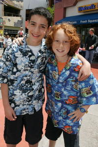 Jeremy Bergman and Sammy Fine at the premiere of
