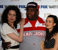 Shalom Harlow, Patrice O'Neal and Cote De Pablo at the launch party of