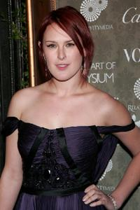 Rumer Willis at the Art of Elysium's 2nd Annual black tie gala.