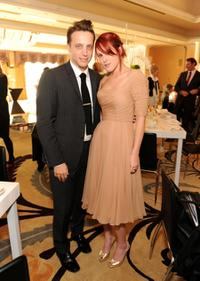 Ariel Foxman and Rumer Willis at the 8th Annual Awards Season Diamond Fashion Show.
