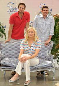 Geoff Stults, Laura Prepon and Bryan Greenberg at the 2008 Monte Carlo Television Festival.