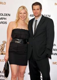 Laura Prepon and Geoff Stults at the Golden Nymph awards ceremony.