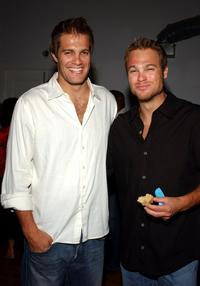 Geoff Stults and George Stults at the AMP Awards.
