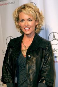 Kelly Carlson at the Mercedes Benz Fashion Week.