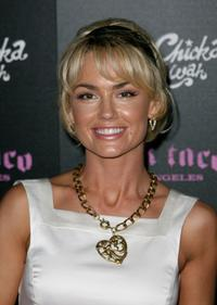 Kelly Carlson at the launch of Pink Taco.