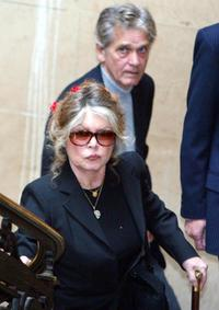 Brigitte Bardot and Bernard d'Ormale at a tribunal.