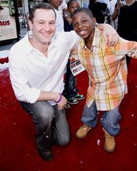 Writer Dan Fogelman and Bobb'e J. Thompson at the premiere of