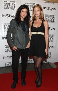 Francesca Gregorini and Amy Ferguson at the InStyle and HFPA Toronto Film Festival party.