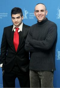 Oshri Cohen and Joseph Cedar at the photocall to promote