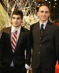 Oshri Cohen and Joseph Cedar at the awards ceremony during the 57th Berlinale International Film Festival.