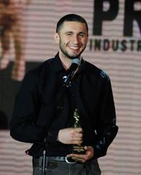 Dragos Bucur at the Romanian Gopo Awards.