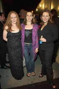Antonia Bennett, Savannah Haske and Johanna Bennett at the launch party of David Adler's documentary