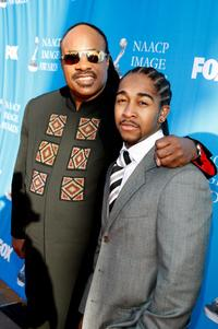 Stevie Wonder and Omarion Grandberry at the 39th NAACP Image Awards.