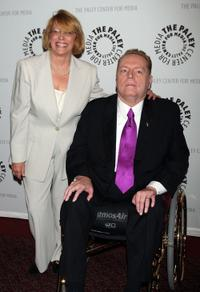 Director Joan Brooker-Marks and Larry Flynt at the New York premiere of