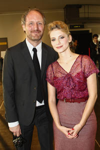 Mike Mills and Melanie Laurent at the Paris premiere of