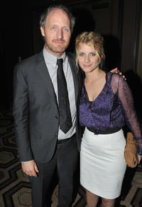 Mike Mills and Melanie Laurent at the after party of the New York premiere of