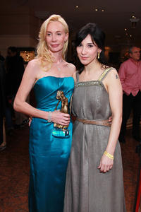Feo Aladag and Sibel Kekilli at the Diva Award 2011 in Germany.