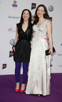 Sibel Kekilli and Jasmin Wagner at the Echo award 2011 in Germany.