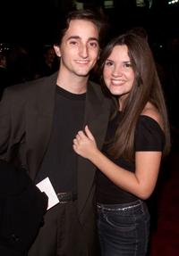 Charlie Korsmo and Sara Marsh at the premiere of