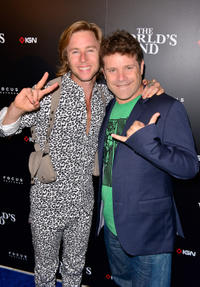 Greg Cipes and Sean Astin at the IGN and Focus Features Comic-Con 2013 Party in California.