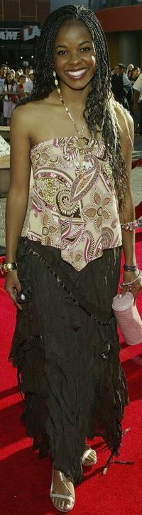 Dana Davis at the premiere of